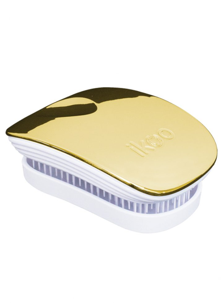 Plaukų šepetys Ikoo Metallic Collection Pocket Soleil White Brush
